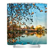 Dreamy Jefferson And Flowers Shower Curtain