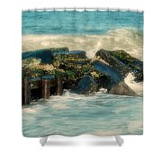 Dreamy Jetty - Jersey Shore Shower Curtain