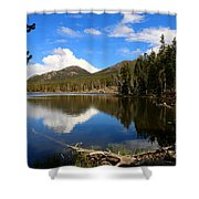 Dreamy Lake In The Rockies Shower Curtain