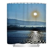 Dreamy Morning On The Ganges Shower Curtain