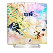 Dreamy Pastel Carnival Shower Curtain