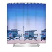Dreamy Santa Monica Beach Shower Curtain