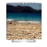 Dreamy Shell Beach Shower Curtain