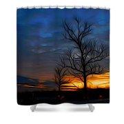 Dreamy Sunset Shower Curtain by Ella Char