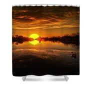 Dreamy Sunset II Shower Curtain