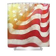 Dreamy Usa Flag 1 Shower Curtain