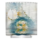 Dreamy World In Blue Shower Curtain