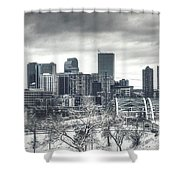 Dreary Denver Shower Curtain
