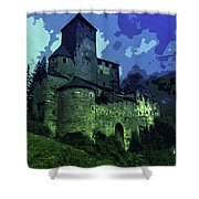 Dreary Fortress Shower Curtain