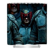 Dredd Karl Urban Donal Gleeson Olivia Thirlby 96764 750x1334 Shower Curtain