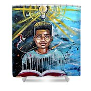 Drenched In Knowledge Shower Curtain
