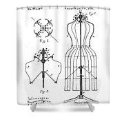 Dress Form Patent 1891  Shower Curtain