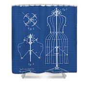 Dress Form Patent 1891 Blueprint Shower Curtain