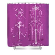 Dress Form Patent 1891 Pink Shower Curtain