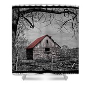 Dressed In Red Shower Curtain by Debra and Dave Vanderlaan