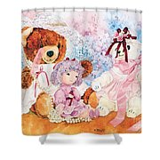 Dressing Up Shower Curtain