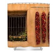 Dried Chilis And Window Shower Curtain