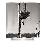 Dried Sunflower Closeup Shower Curtain
