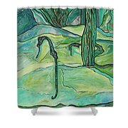 Drifting Seahorse Shower Curtain