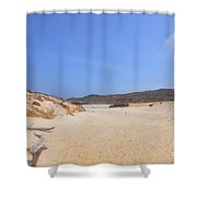 Driftwood Abandoned On A Beautiful Remote Beach In Aruba Shower Curtain