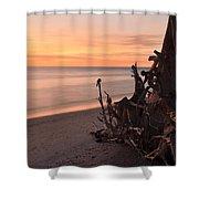 Driftwood At Sunset Shower Curtain