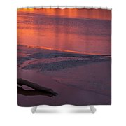 Driftwood Sundown Shower Curtain