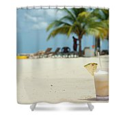 Drink In The Sand Shower Curtain