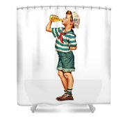 Drink Up Sailor Shower Curtain