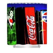 Drink Vending Machines Shower Curtain
