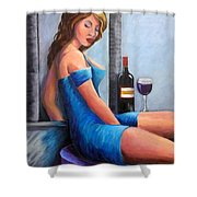 Drinking Alone Shower Curtain