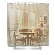 Drinking Coffee Shower Curtain