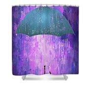 Dripping Poster Purple Rain Shower Curtain