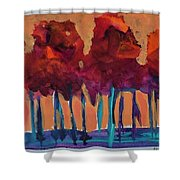 Dripping Tree #1 Shower Curtain