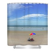 Drive By Beach Day Abmlo  Shower Curtain