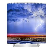 Drive By Lightning Strike Shower Curtain