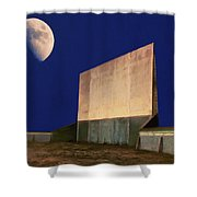 Drive-in Moon Shower Curtain
