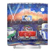 Drive-in Movie Theater Shower Curtain