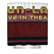 Drive Inn Theatre Shower Curtain by David Lee Thompson