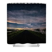 Drive Into The Wild Shower Curtain