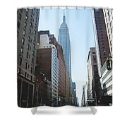 Drive Though The City  Shower Curtain