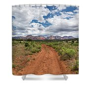 Drive To Loy Canyon, Sedona, Arizona Shower Curtain