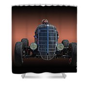 Driver And His Race Car Shower Curtain