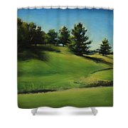 Driving By A Michigan Meadow Shower Curtain