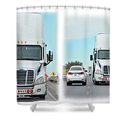 Driving In Reverse Shower Curtain