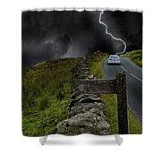 Driving Into The Storm Shower Curtain
