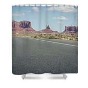 Driving Monument Valley Shower Curtain