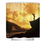 Driving Off A Cliff Shower Curtain