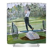Driving Pine Hills Shower Curtain