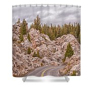 Driving Through The Hoodoos Shower Curtain