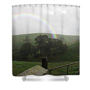 Drizzling Rainbow Shower Curtain